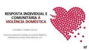 RESPOSTA INDIVIDUAL E COMUNITRIA VIOLNCIA DOMSTICA POR MABLE