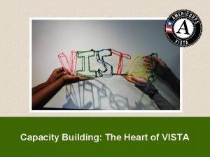 Capacity Building The Heart of VISTA Capacity Building