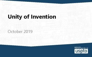 Unity of Invention October 2019 CBT Narration placeholder
