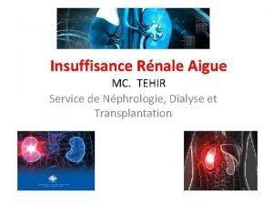 Insuffisance Rnale Aigue MC TEHIR Service de Nphrologie