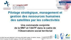 Pilotage stratgique management et gestion des ressources humaines
