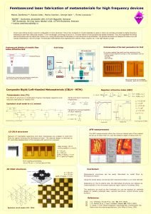 Femtosecond laser fabrication of metamaterials for high frequency