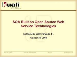 SOA Built on Open Source Web Service Technologies