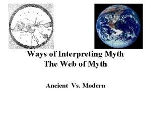 Ways of Interpreting Myth The Web of Myth