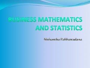 Nishantha Palihawadana Time Series Analysis Definition of Time