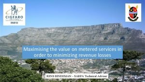 Maximising the value on metered services in order