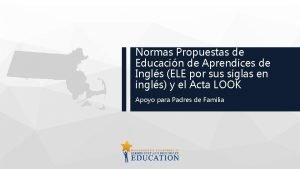 Normas Propuestas de Educacin de Aprendices de Ingls