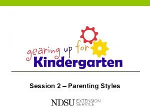 Session 2 Parenting Styles Parenting Styles Objectives Parents