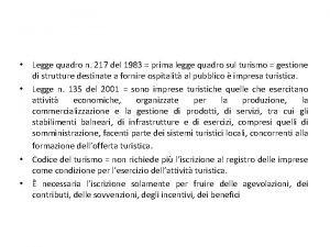 Legge quadro n 217 del 1983 prima legge