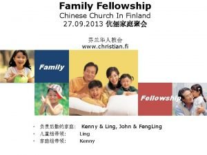 Family Fellowship Chinese Church In Finland 27 09