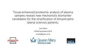 Tissueenhanced proteomic analysis of plasma samples reveals new