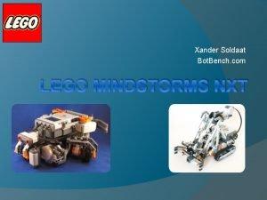 Xander Soldaat Bot Bench com LEGO MINDSTORMS NXT