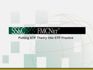 Putting STP Theory into STP Practice Introductions Agenda