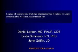 Science of Diabetes and Diabetes Management as it