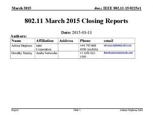 March 2015 doc IEEE 802 11 150225 r
