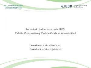 TFC Accesibilidad Web Graduado Multimedia Repositorio Institucional de