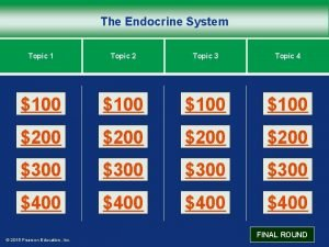 The Endocrine System Topic 1 Topic 2 Topic