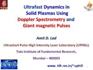 Ultrafast Dynamics in Solid Plasmas Using Doppler Spectrometry