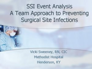 SSI Event Analysis A Team Approach to Preventing