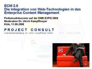 ECM 2 0 Die Integration von WebTechnologien in