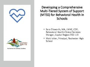 Developing a Comprehensive MultiTiered System of Support MTSS