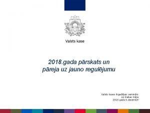 2018 gada prskats un preja uz jauno reguljumu