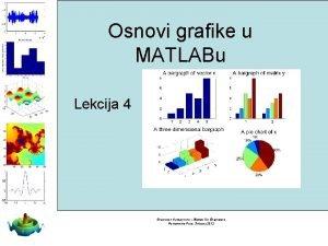 Osnovi grafike u MATLABu Lekcija 4 Branislav Vuksanovic