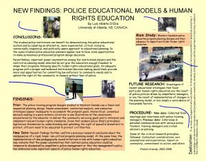Main Study Western Canadian police The studied police