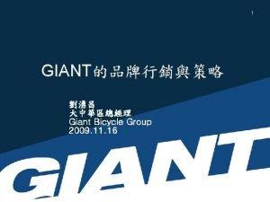 1 GIANT Giant Bicycle Group 2009 11 16