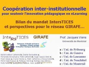 Coopration interinstitutionnelle pour soutenir linnovation pdagogique en e