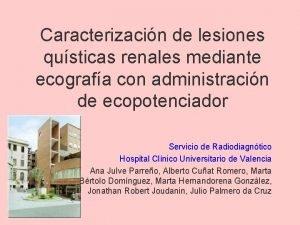Caracterizacin de lesiones qusticas renales mediante ecografa con