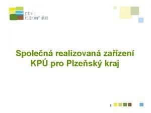 Spolen realizovan zazen KP pro Plzesk kraj 1