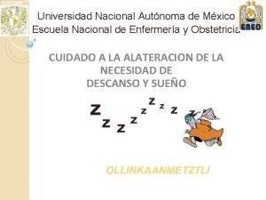 Universidad Nacional Autnoma de Mxico Escuela Nacional de