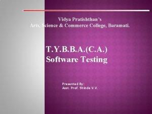 Vidya Pratishthans Arts Science Commerce College Baramati T