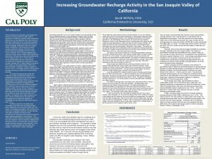 Increasing Groundwater Recharge Activity in the San Joaquin