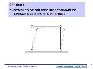 Chapitre 4 ENSEMBLES DE SOLIDES INDEFORMABLES LIAISONS ET