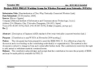 November 2004 doc IEEE 802 15 04649 r
