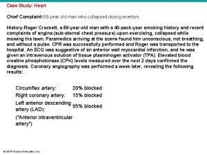 Case Study Heart Chief Complaint 68 yearold man