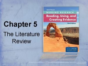 Chapter 5 The Literature Review The Literature Review
