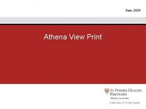 June 2020 Athena View Print Athena View Print