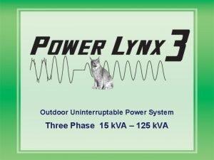 Outdoor Uninterruptable Power System Three Phase 15 k