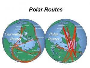 Polar Routes Washington Chicago Los Angeles Washington Chicago