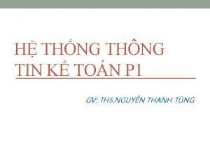 H THNG THNG TIN K TON P 1
