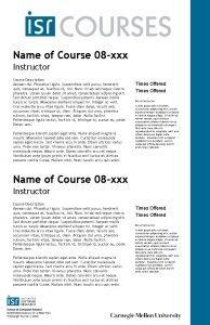 Name of Course 08 xxx Instructor Course Description