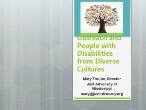 Outreach and People with Disabilities from Diverse Cultures