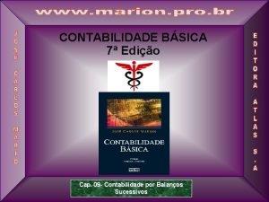 CONTABILIDADE BSICA 7 Edio 1 Cap 09 Contabilidade