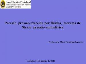 Presso presso exercida por fluidos teorema de Stevin