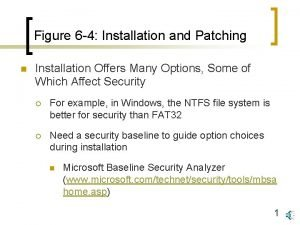 Figure 6 4 Installation and Patching n Installation
