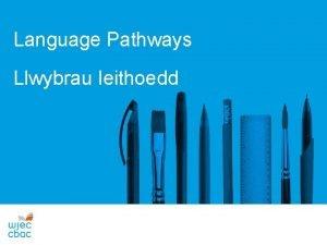 Language Pathways Llwybrau Ieithoedd CYNNWYS 1 Trosolwg a