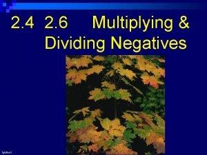 2 4 2 6 Multiplying Dividing Negatives fguilbert